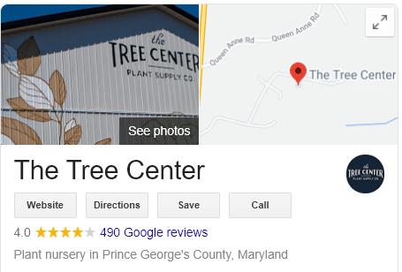 The Tree Center Google Reviews